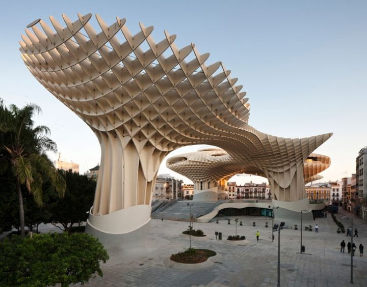 construction made of laminated timber